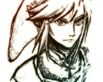 Link - Zelda fan art print