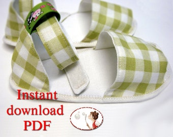 Summer Baby Sandals Sewing Pattern - Easy - PDF