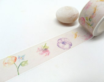 Flower Washi Tape - Floral Washi Tape