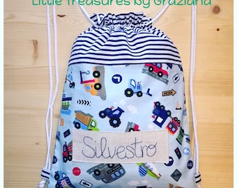 Personalized Cotton Backpack Bag