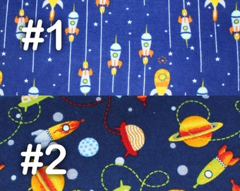 "Rocket Ship Outer Space Extra Large Receiving Blanket - 36"" x 42"""