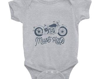 Retro Motorcycle Infant Bodysuit