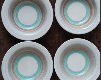 Vintage Susie Cooper Production Bowls for Nibbles and Snacks Four Art Deco Bowls 1930's/40's