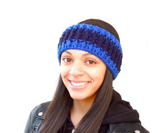 Crochet Headband, Earwarmer, Women, Teen, Men, Ribbed, Ready To Ship,