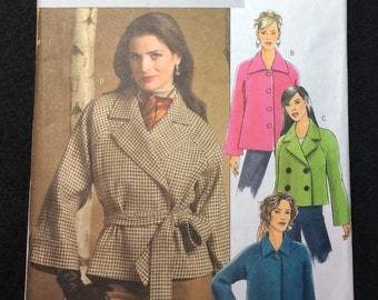 Butterick Fast & Easy Misses'/Misses Petite Jacket And Belt Pattern B4865 Size Large And Extra Large