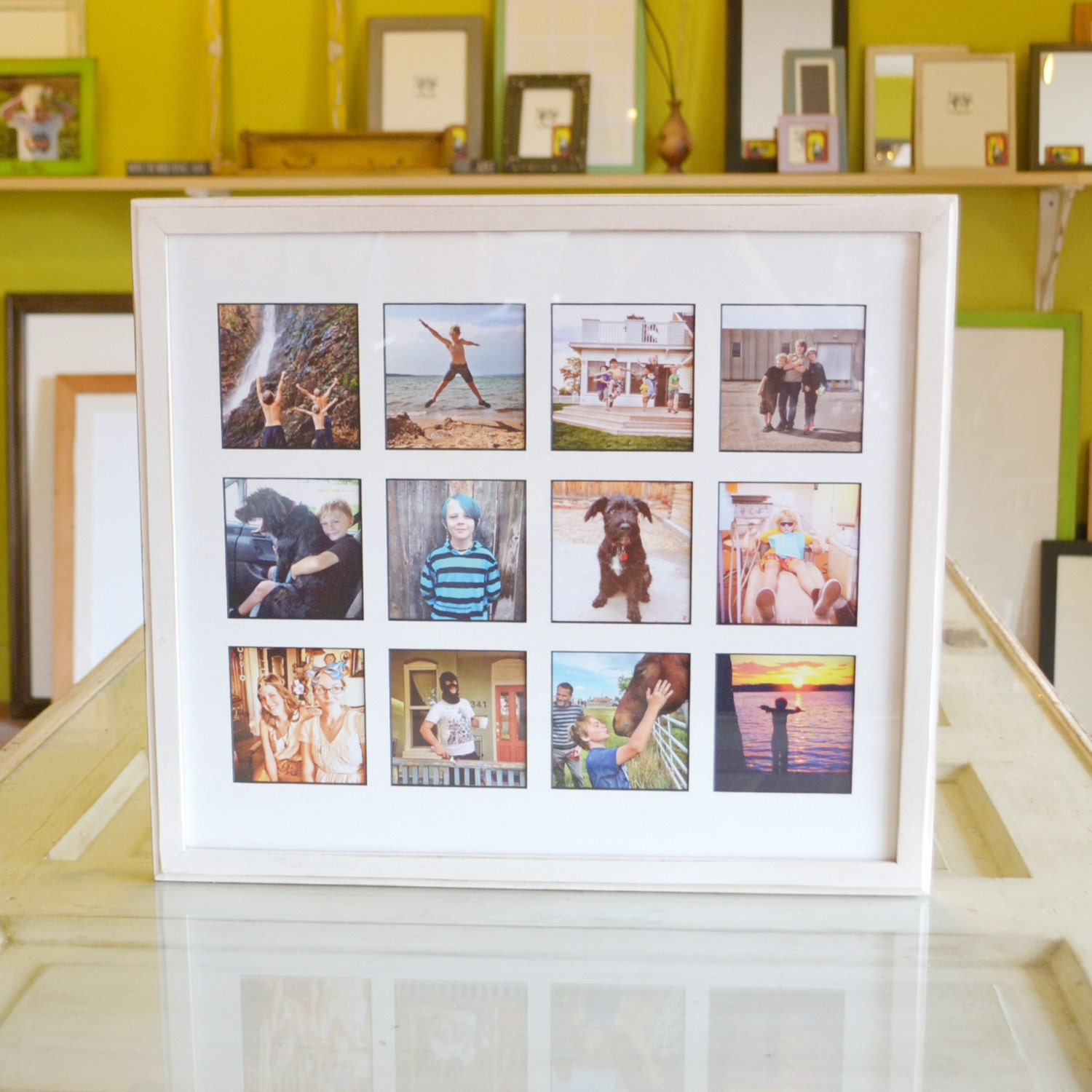 Collage frame 1925 x 165 1x1 outside cove style with mat 7079 jeuxipadfo Images