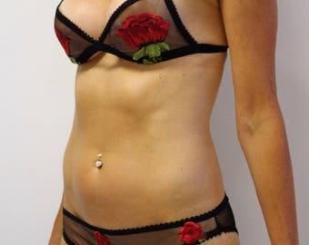 Scarlet Rose Bralette Embroidered Lace