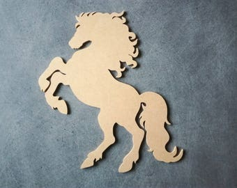 Horse wooden mdf holder to decorate 14 x 11 cm