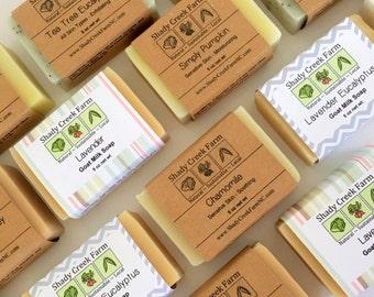 Soap Set of 10 You Choose Bar Soaps Handmade Soap gift for women man gift goat milk soap vegan soap Stocking Stuffer Christmas
