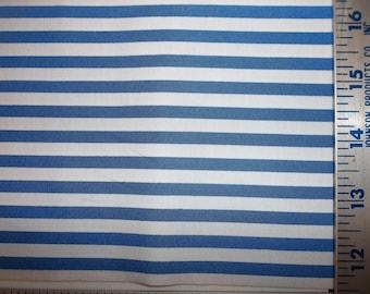 Blue White Stripe 100% Cotton Fabric #195