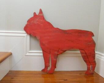 French Bulldog Sign Large Size Decor Oversized Frenchie Dog Wall Art