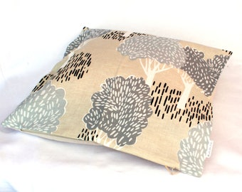 Pillow with trees, Forest pillow, Forest at home, Les Houbeles