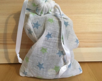 Reusable cotton fruit and vegetable bags - small