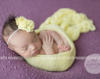 Flower Headband, Baby Girl Headband, Yellow Headband, Yellow Flower, Baby Girl Headband, Newborn Headband, Photo Prop, Photography Prop