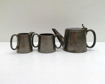 1950s English pewter tea set
