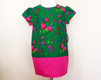 Green Goralski Floral 4T Girl Sukienka (Dress)