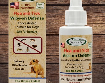 Flea and Tick Wipe-on Defense 2oz formulated for Dogs