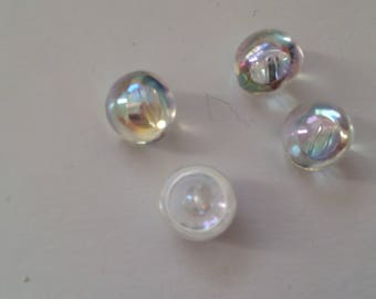 Button color Crystal AB 10 mm about like beads