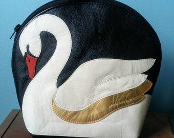 Plumage Studio Leather Swan Purse, Handbag