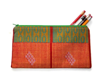 Cosmetic Bag, Zipper Pouch, Make-up Bag, Handmade Cosmetic Bag, African Print Cosmetic Bag, Pencil Case, Pencil Pouch, Bridesmaid Gifts