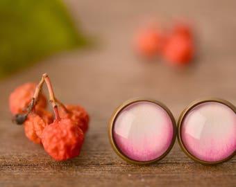 Rose earrings, rose petal earrings, flower earrings, floral earrings, nature earrings, nature jewelry, post earrings, stud earrings