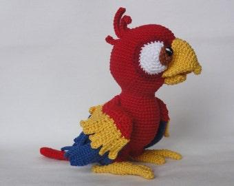 Amigurumi Crochet Pattern - Chili the Parrot - English Version