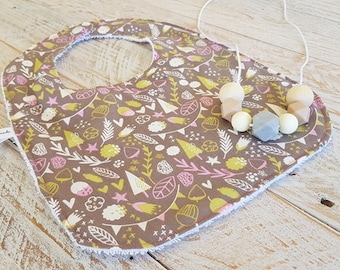 Handmade Baby Newborn Bib Baby Shower Gift Gener neutral gift