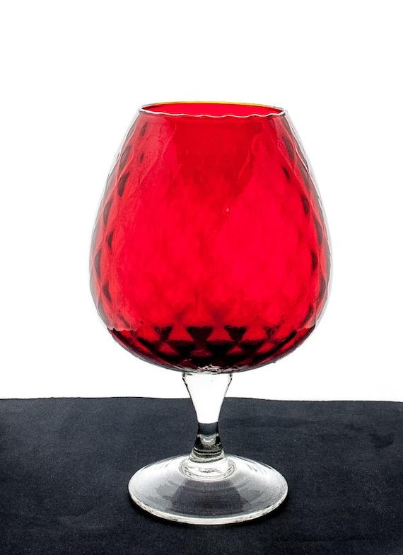 Empoli Glass Goblet Red