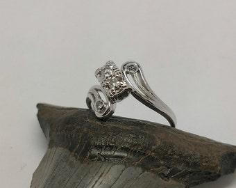 Antique 1940s Diamond Cluster Ring