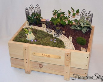Mini Garden Fairies Garden Fairy Garden with O. Without plants/name plate Muttertagsgeschenk