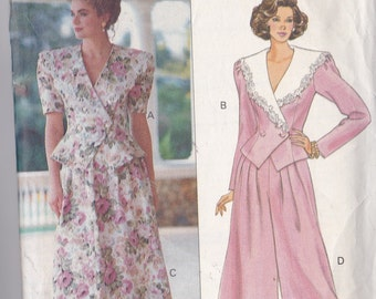 Butterick 5311 CLEARANCE Vintage Pattern Womens Fitted Top, Skirt and Gauchos Size 6,8,10 UNCUT