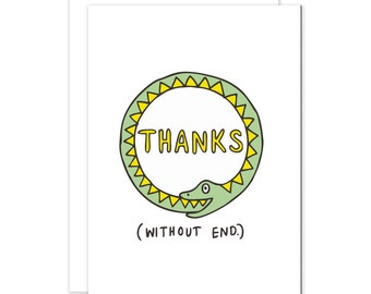 Thanks Without End - Snake Thank You Card