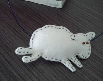 "felt necklace ""draw me a sheep"""