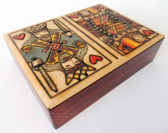 Handmade King and Queen Double Card box