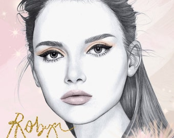 Sparkle - fashion illustration portrait