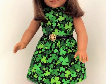 St. Patrick's Day dress for American Girl Dolls and other similar 18 inch dolls