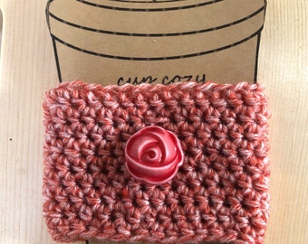 Rose Button Cup Cozy