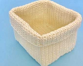 Square Crochet Basket Pattern DIY basket pattern Crochet storage basket DIY crochet basket Crochet bowl Crocheted basket pattern