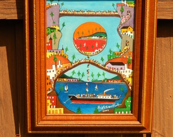 Haitian Painting by Prifete Duffant