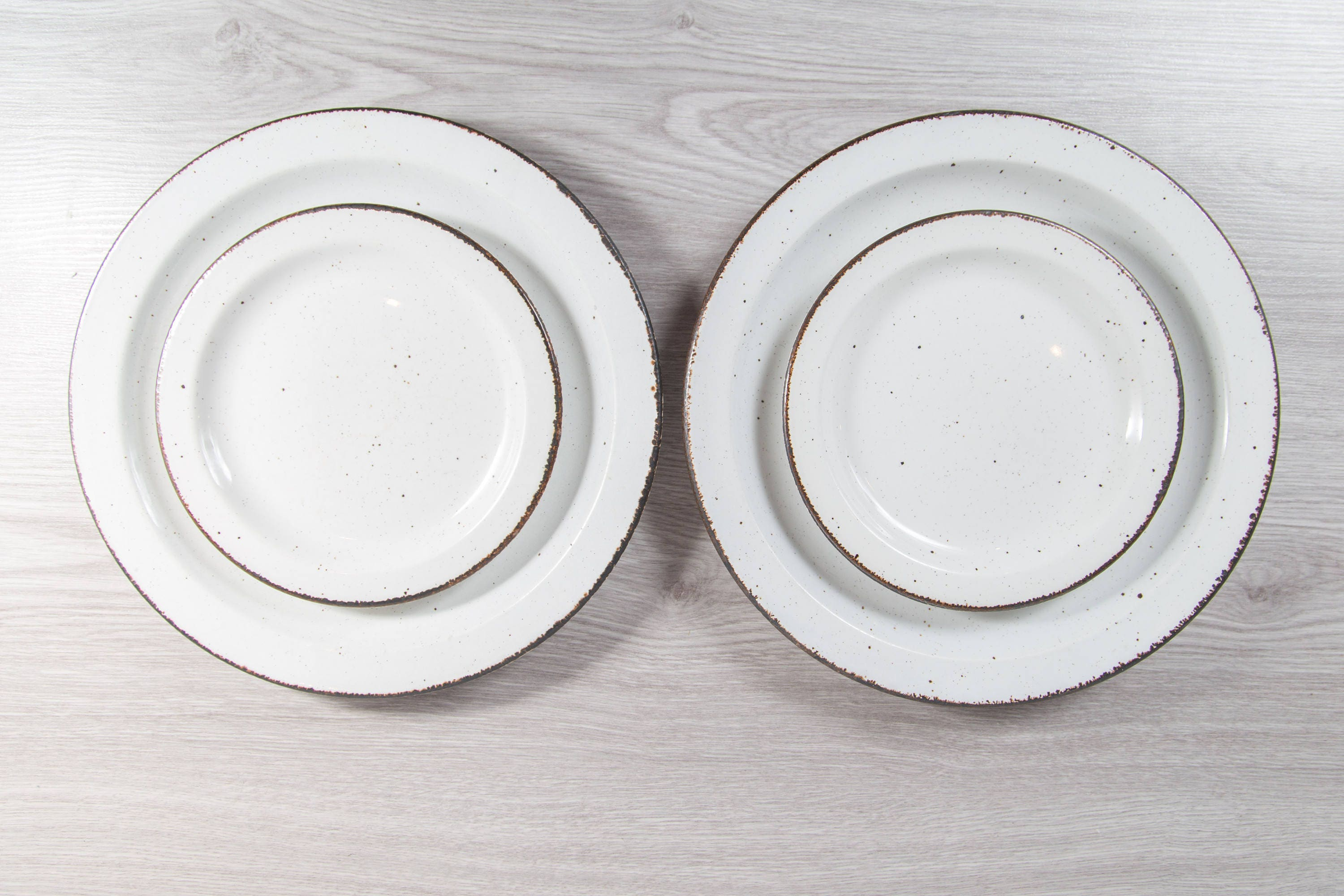 place sets throughout cabin lodge rustic cabins dinnerware