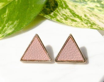 Gold Triangle Stud Earrings / Geometric Studs / Gold Triangle Earrings / Triangle Earrings / Triangle Studs / Upcycled Jewellery