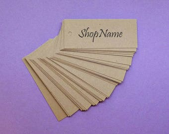 100 kraft tags w ties free US shipping gift tags price tags clothing hang tags etsy seller supplies merchandise tags personalized tags label