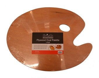 Frisk Plywood Oval Paint Palette - Large
