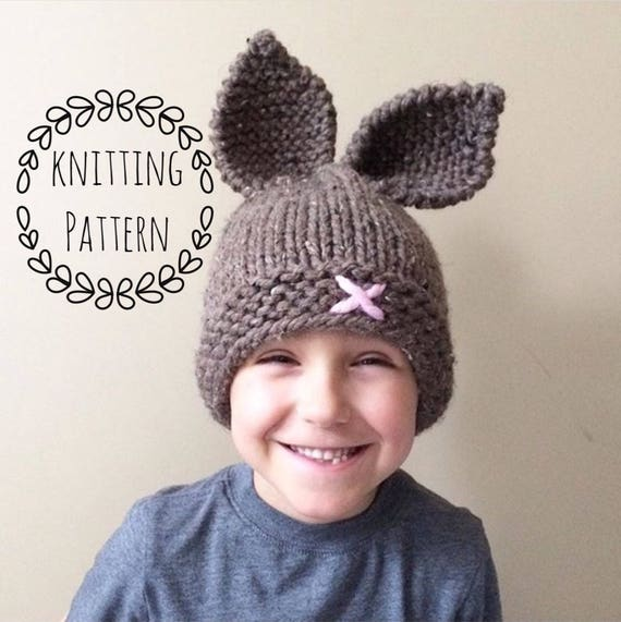 Rustic Knit Bunny Toque Knitting PatternKnit Hat Knit Hat