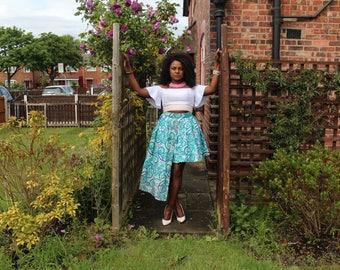 Lorraine hi-low skirt