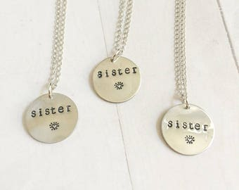 Sister Necklaces for 3, Friendship Pendants, Sorority Gift, Sororities present idea, Birthday, 3 sisters, unique girls trip gift idea