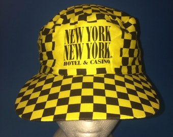 Vintage New York New York Hotel and Casino Painter SnapBack hat adjustable 1980s 90s