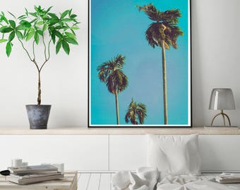 50%OFF,  Palm Tree Print, Palm Wall Art, Palm Poster Modern, Beach Print, Printable Digital Download Instant Download