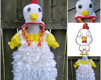 Chicken Costume, Toddler Chicken Costume, Infant Chicken Costume, Halloween Chicken Costume, Barnyard Animal Costume, Animal Costume