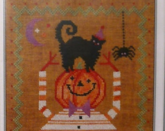 Cross stitch pattern:  Happy Halloween Companions